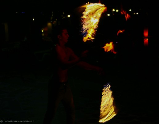 Live fire show