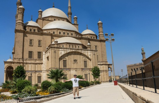 Me in front of the Muhammad Ali Mosque