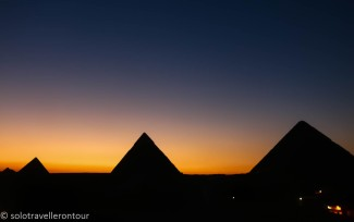 Sunset at the pyramids