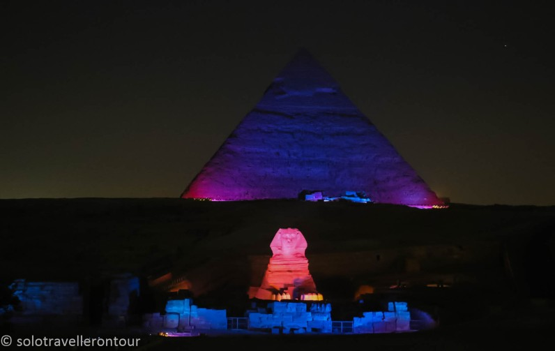 The Great pyramids and Sphinx