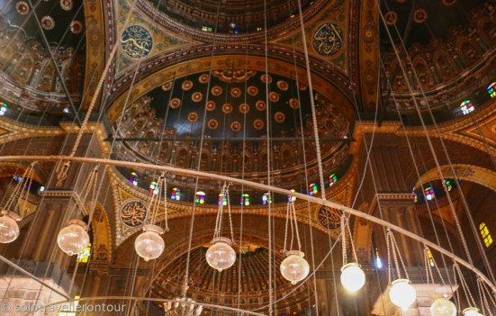 The beautiful ceiling of the mosque