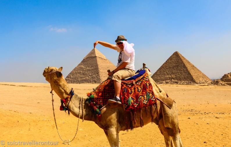 Finally touching the pyramids