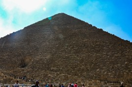 You can hardly get any closer to the Great Pyramid...