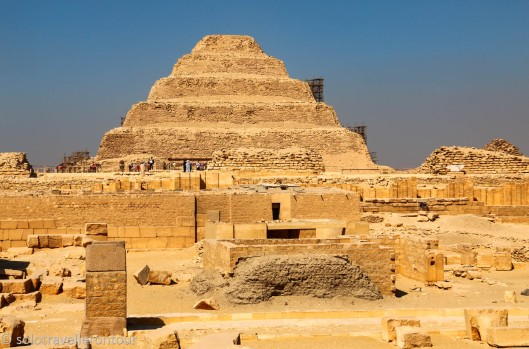 Great view of the Step Pyramid overlooking the other remaining ruins