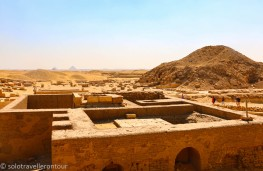View from the platform over the surrounding area - with more pyramids in the far distance