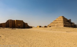 The Step pyramid and the funeral complex next to it