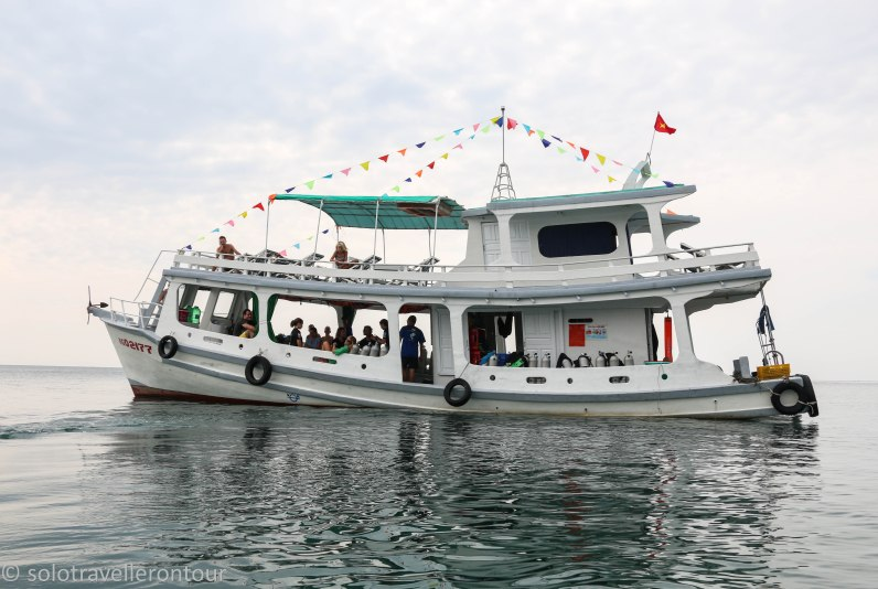The boat used by Flipper Dive centre