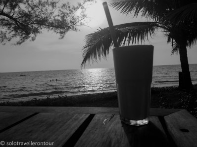 Mango Smoothie on a beach - perfection!!!