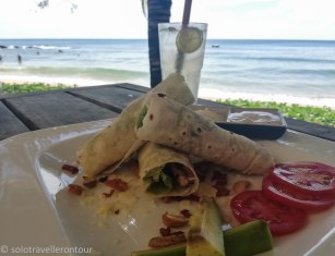 Tasty lunch on Mango Beach