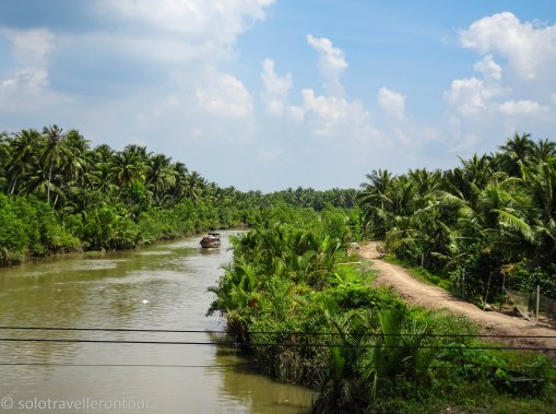 Typical view when travelling through the Mekong Delta