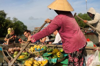 Despite the small size, Phong Dien Market is rather colourful