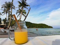 Mango Smoothie on the beach