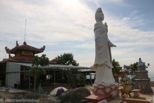 The pagoda on top of Nui Ba