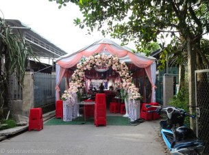 A very good reason to close a street - for a wedding
