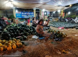 Still lots of melons to sell = 12 hours later they nearly sold all of them...