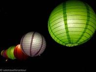 Lanterns shining in the night
