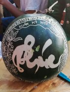 Decorated Melon for ancestors