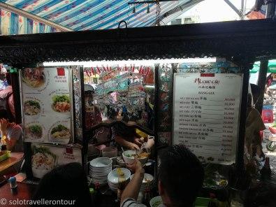 Little food stall inside a market