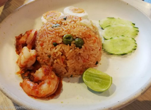 Airport food II: Rice with seafood