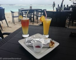 Wrap, fruit juices and the beach - what else do you need???