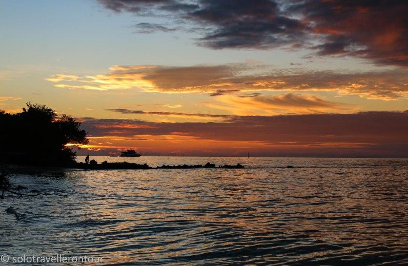 Sunset over Dhiffushi