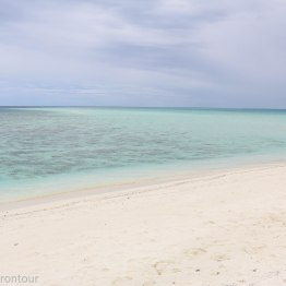 White beach and clear blue water - a little paradise