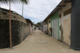 One of the little streets connecting east and west part of the island