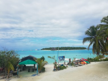 View from Cafe 420 towards Meeru Island
